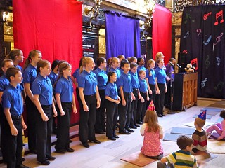 The Children's Festival Chorus at the Fiddlesticks pre-concert