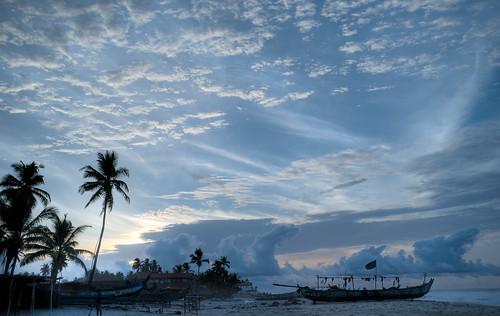 morning red beach sunrise dawn seaside fishingvillage