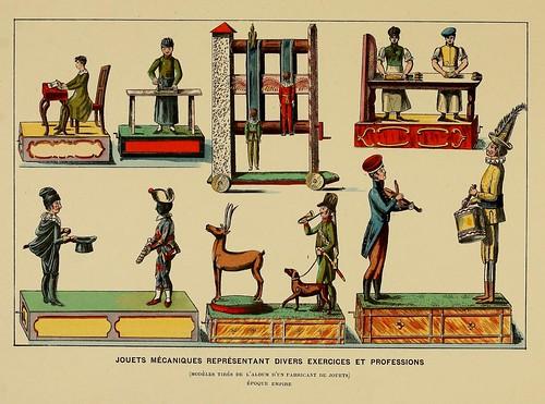 017-Juguetes mecanicos representando diversas profesiones-Epoca Imperio-Histoire des jouets….1902- Henry René d' Allemagne