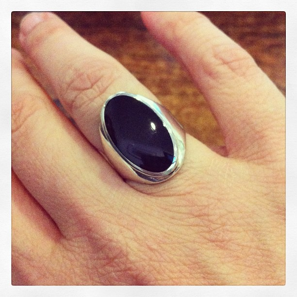 Bought a beautiful Whitby jet ring - trad Victorian jewelry