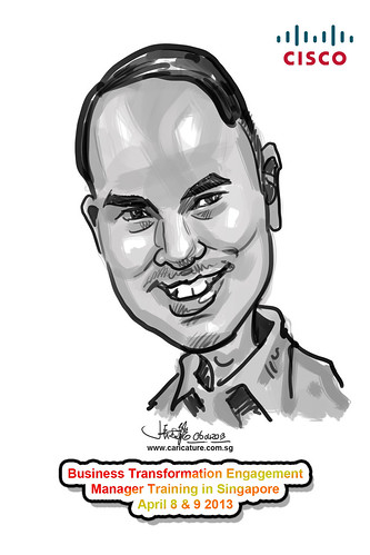 digital caricature for Cisco - 13