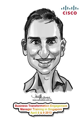 digital caricature for Ciso - 10