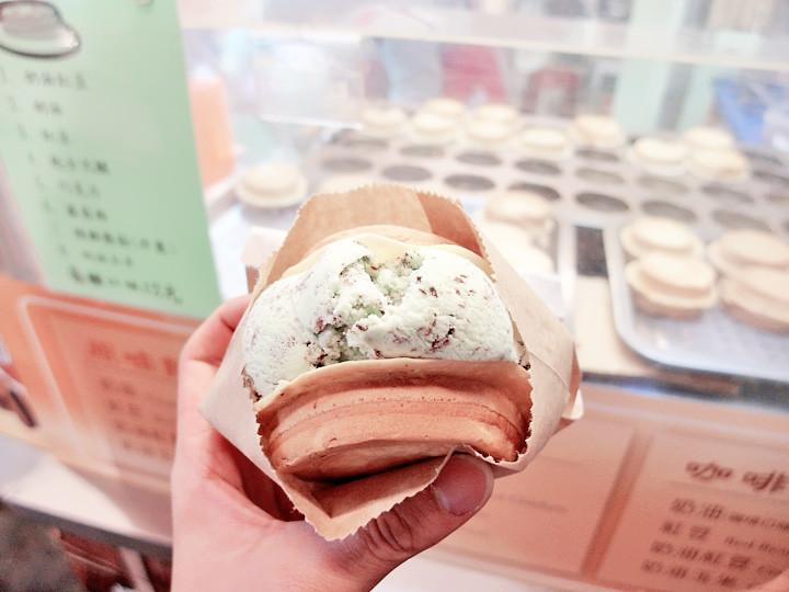 ice cream waffle Raohe Night Market