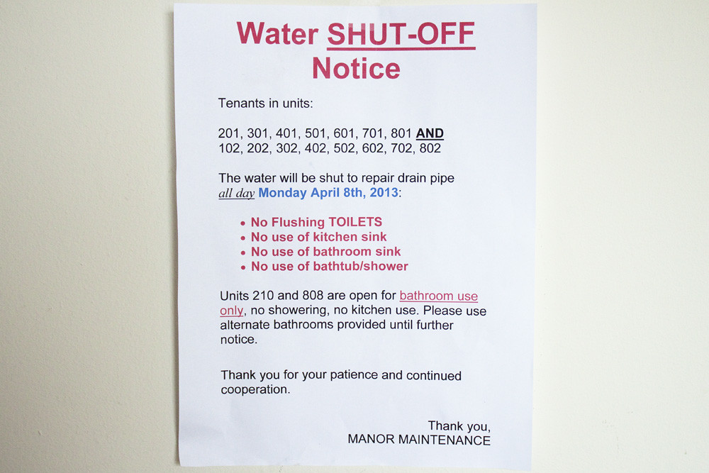 Water SHUT-OFF Notice