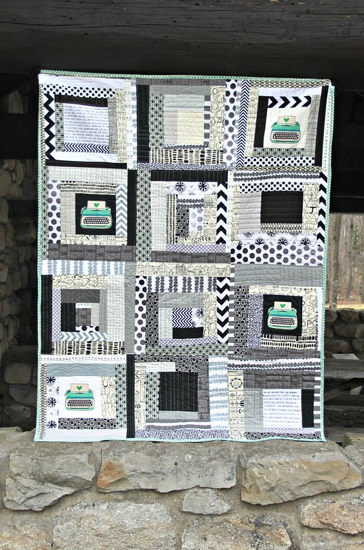 Multicolored and Textured Log Cabin Style Quilt