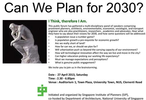SI{ Forum - Can We Plan for 2030?