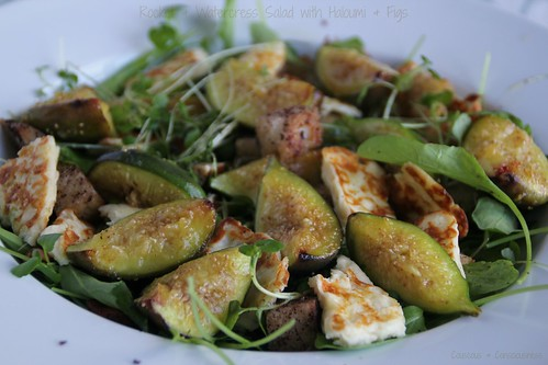 Rocket & Watercress Salad with Haloumi & Figs 2