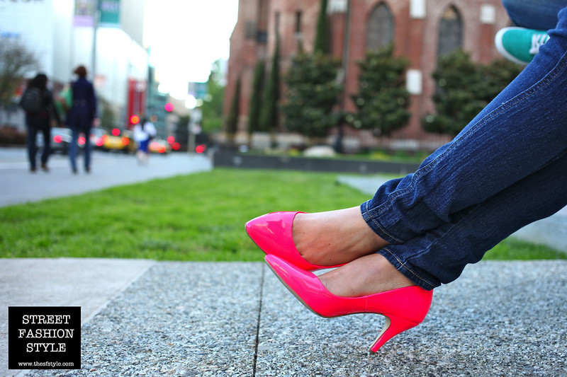 hot pink, pumps, high heels, san francisco fashion blog, street fashion style, thesfstyle,