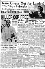 DC Killer Cop is Free: 1936