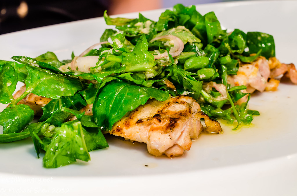 Icebergs - Free Range Chicken Paillarde, Rocket, Shallots, Watercress, Horseradish, Chilli, Lemon