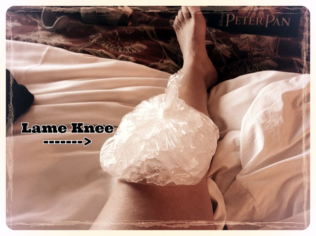Injured knee after the Tinker Bell Half Marathon