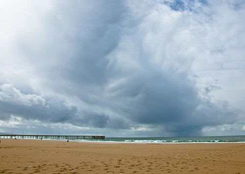 storm front Venice Beach by Ray Rae