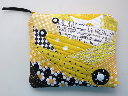 Yellow & Black Pouch - front