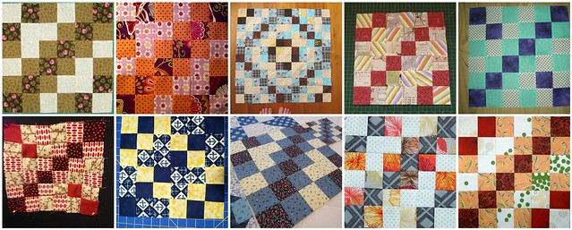 10 Reflection Blocks Created for the My Favorite Block Quilt Along