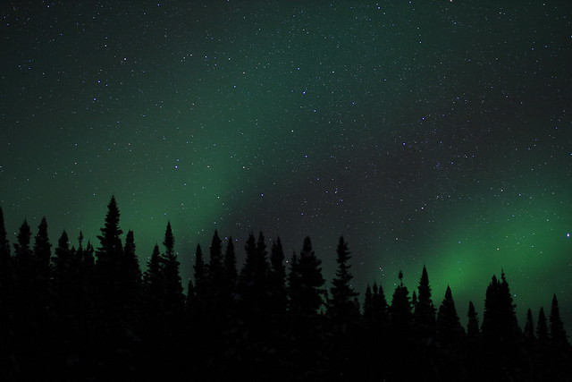Northern Lights, Canon EOS 40D, Canon EF 35mm f/1.4L