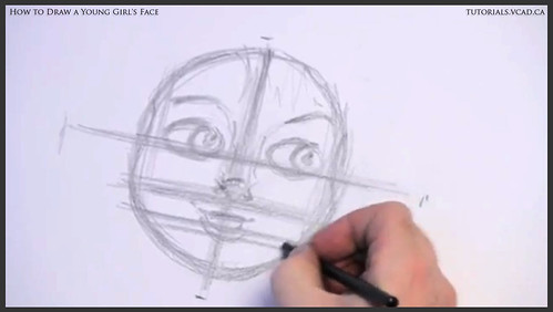 learn how to draw a young girls face 007