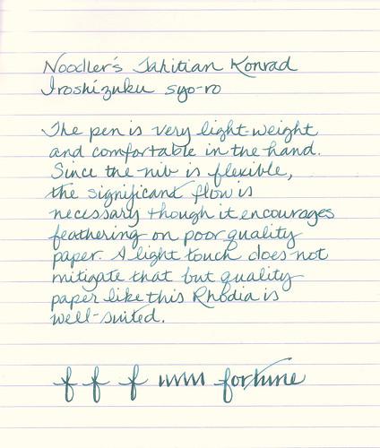 Noodler's Tahitian Tortoise Konrad Fountain Pen
