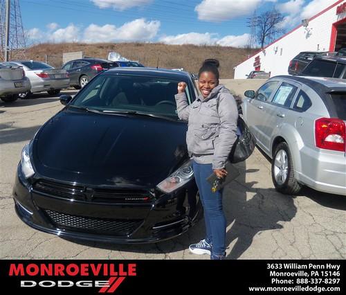 Congratulations to Caquitta Green-Davis on the 2013 Dodge Dart by Monroeville Dodge