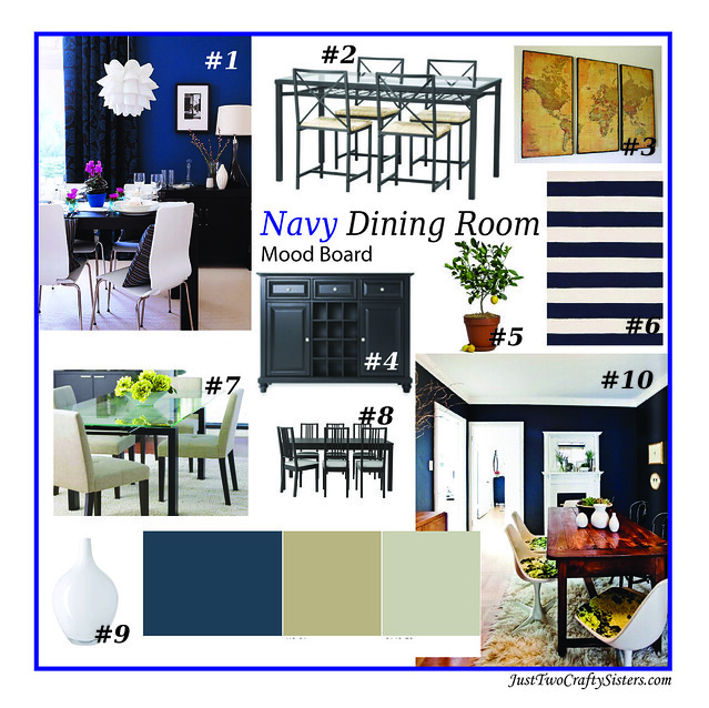 Navy Dining Room Mood Board