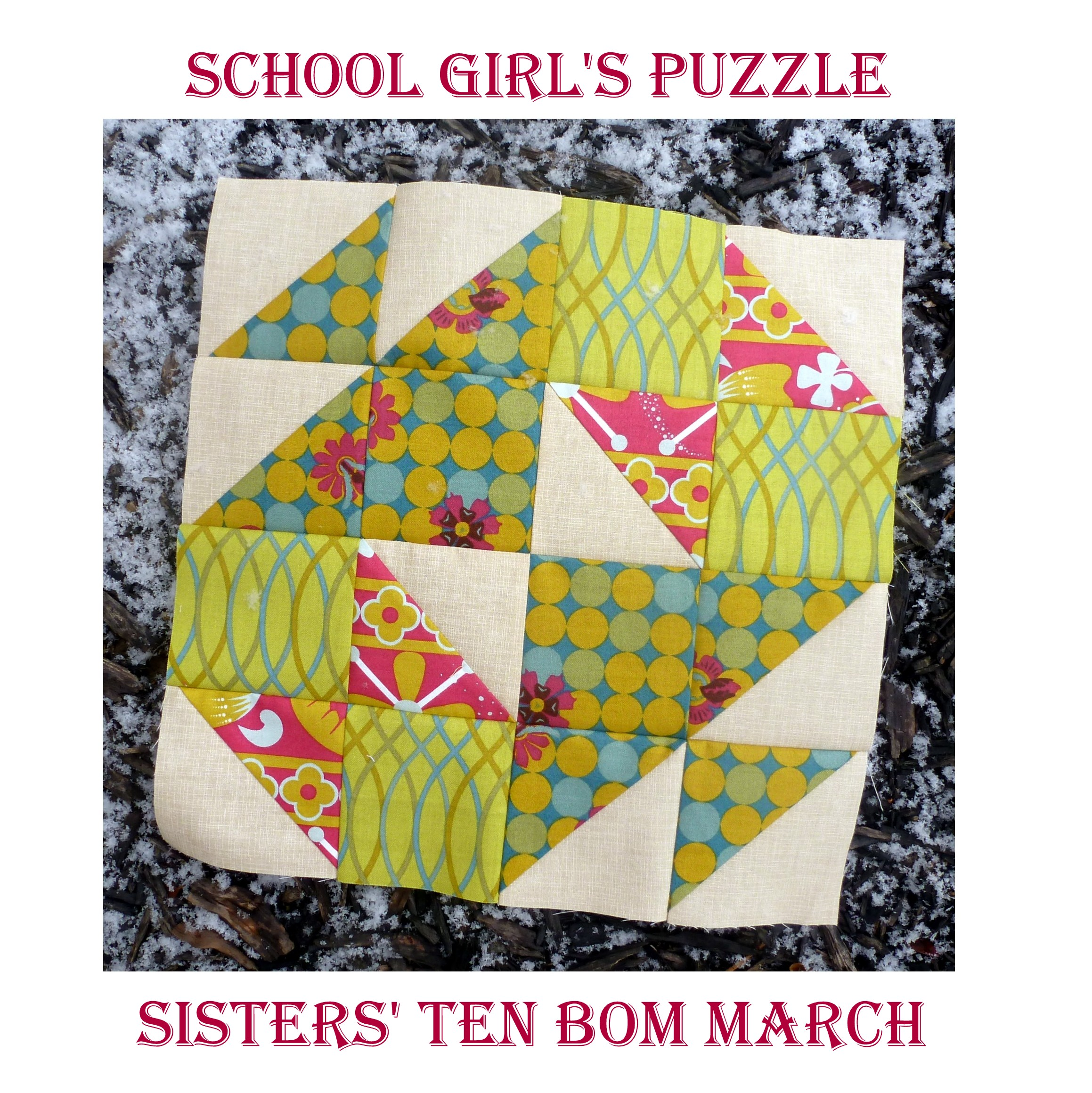March - School Girl's Puzzle blog cover