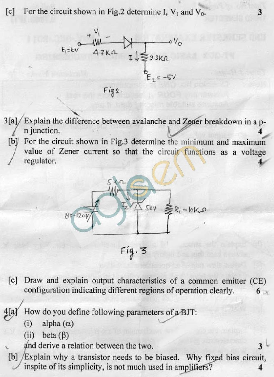 DTU Question Papers 2011 - 3 Semester - End Sem - PT-202
