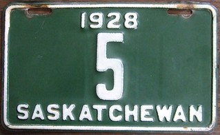 SASKATCHEWAN 1928 ---LICENSE PLATE #5