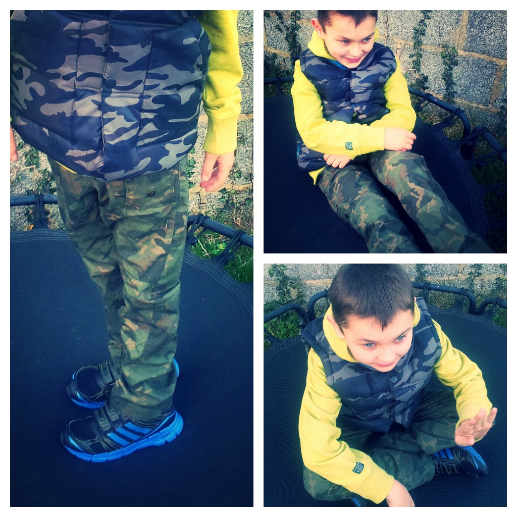 Danny's Next Camo Look Trousers Gilet Hoodie