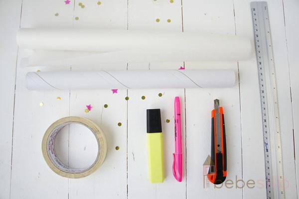 homemade neon washi tape / washi tape casero hecho a mano neón