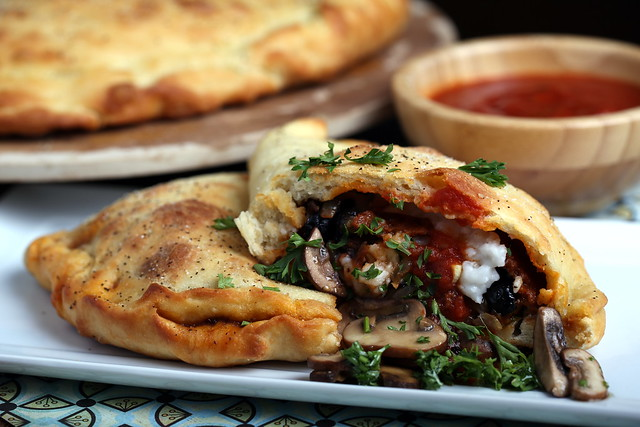 Homemade Vegan Sausage and Cheese Calzones