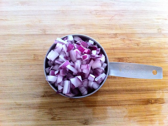1/2 Cup Diced Red Onion