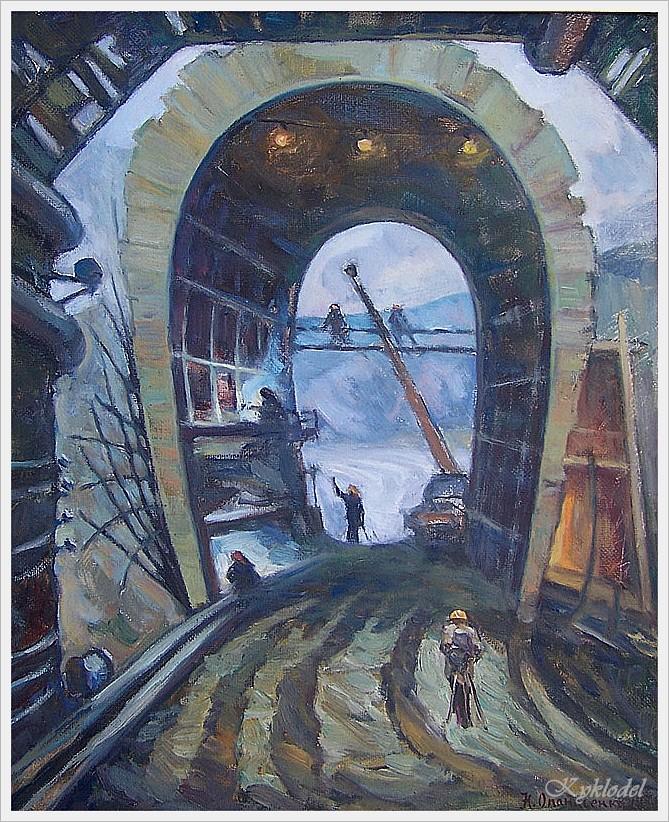 Опанасенко Николай Астафьевич  (Россия, 1936) «Портал тоннеля, БАМ» 1978