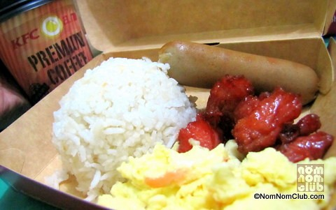 KFC Filipino Breakfast Fully Loaded Meal