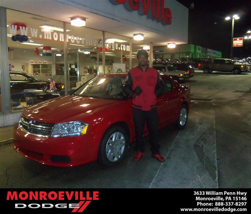 Congratulations to Donald Giddens on the 2013 Dodge Avenger by Monroeville Dodge