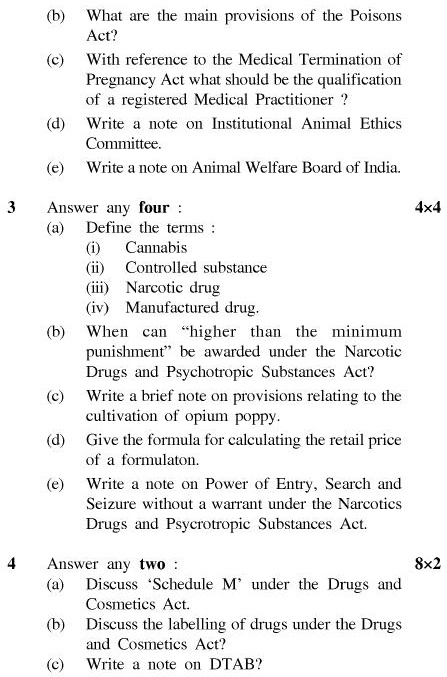 UPTU B.Pharm Question Papers PH-365 - Pharmaceutical Jurisprudence & Ethics