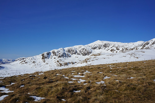 Looking West towards the South ridge of Meall Garbh from the South shoulder of Meall nan Tarmachan