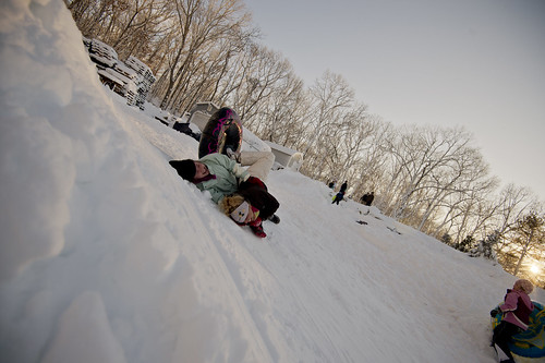 Winter Sledding by RHarack via I {heart} Rhody