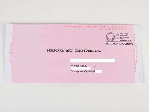 Important Envelopes 19