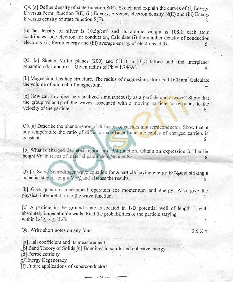 NSIT: Question Papers 2011 – 2 Semester - End Sem - COE-IC-115