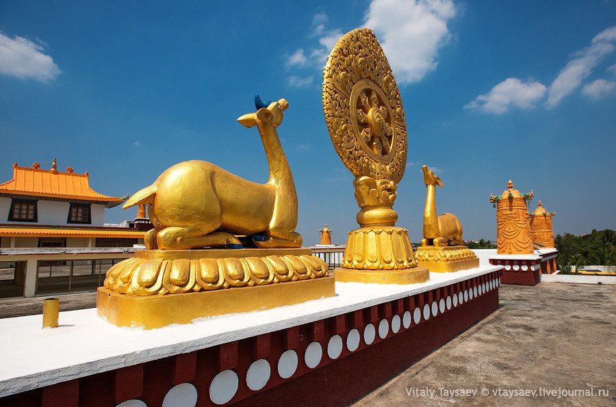 On the roof of Tibetan Temple