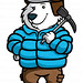 Mountain Climber Polar Bear Cartoon Character - Polarthemes
