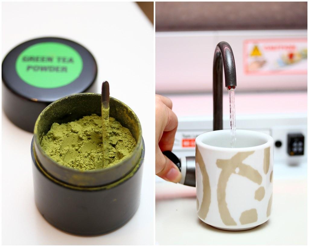 Genki Sushi's Green Tea & Hot Water