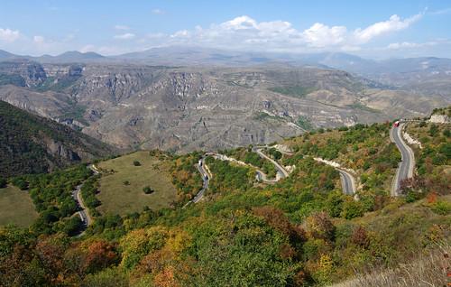 road autumn fall truck october long view iran south journey armenia vista trucks winding iranian overlook viewpoint province armenian longandwindingroad longandwinding syunik siunik սյունիք siwnik