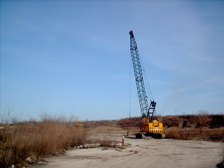 The demolition of the Bell Air Drive In Movie Theatre.  Cicero Illinois.  March 2007. by Eddie from Chicago