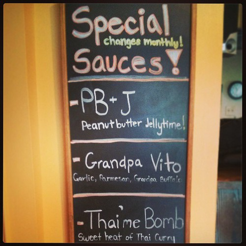 The current lineup of sauce specials. #getsauced
