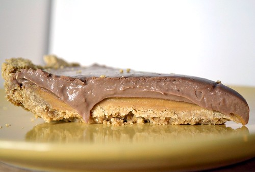 vegan peanut butter chocolate pie