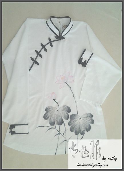 11019-3 hand painted cotton Tai Chi uniform