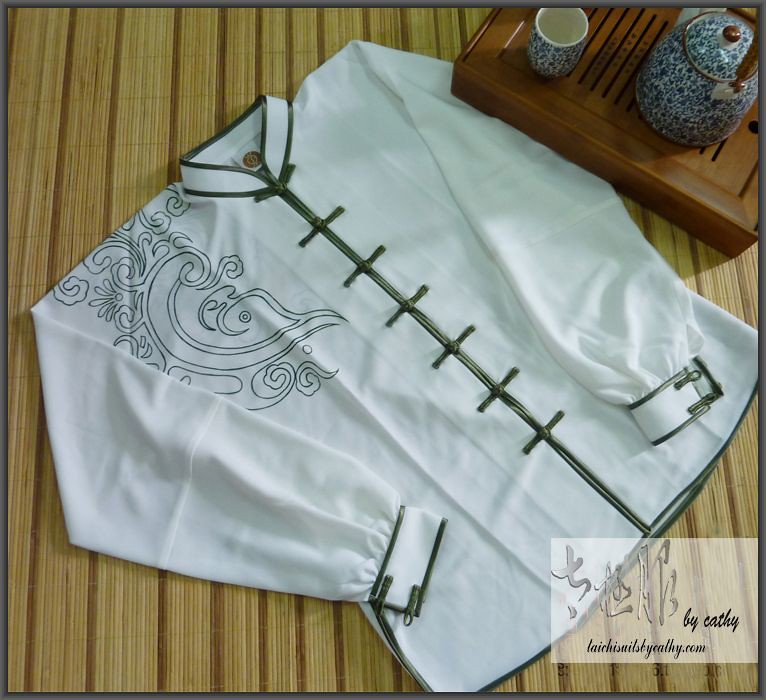 11009-5 custom made in Taiwan cotton Tai Chi suit
