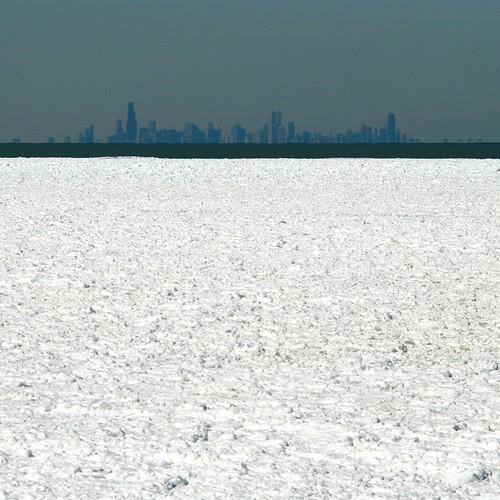 winter chicago skyline illinois indiana indianadunes indianadunesnationallakeshore shelfice portagelakefront
