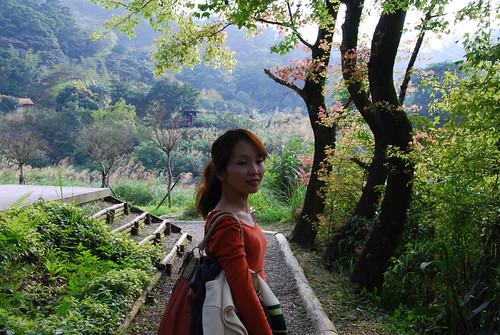 老婆與美麗的樹林
