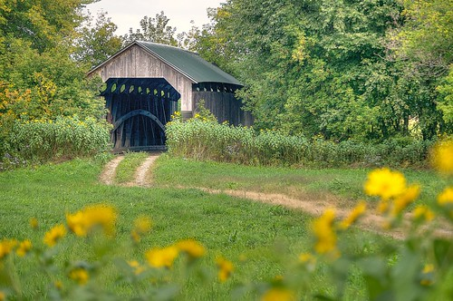 Gates Farm Covered Bridge by jcbwalsh